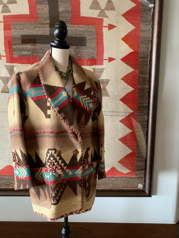 Ralph Lauren country/wool/Navajo jacket/vintage - image 6
