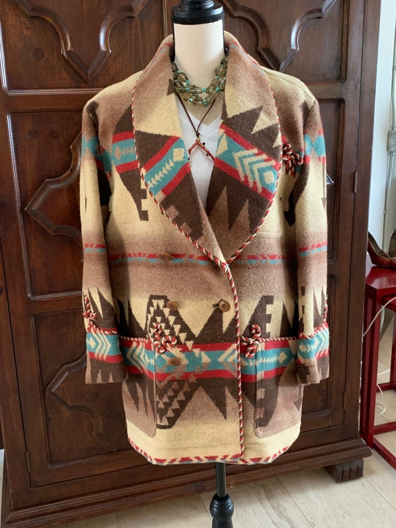 Ralph Lauren country/wool/Navajo jacket/vintage - image 1