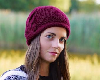 Unisex peaked cap Felted alpaca wool peaked hat Alpaca peaked cap Brown /& black alpaca hat