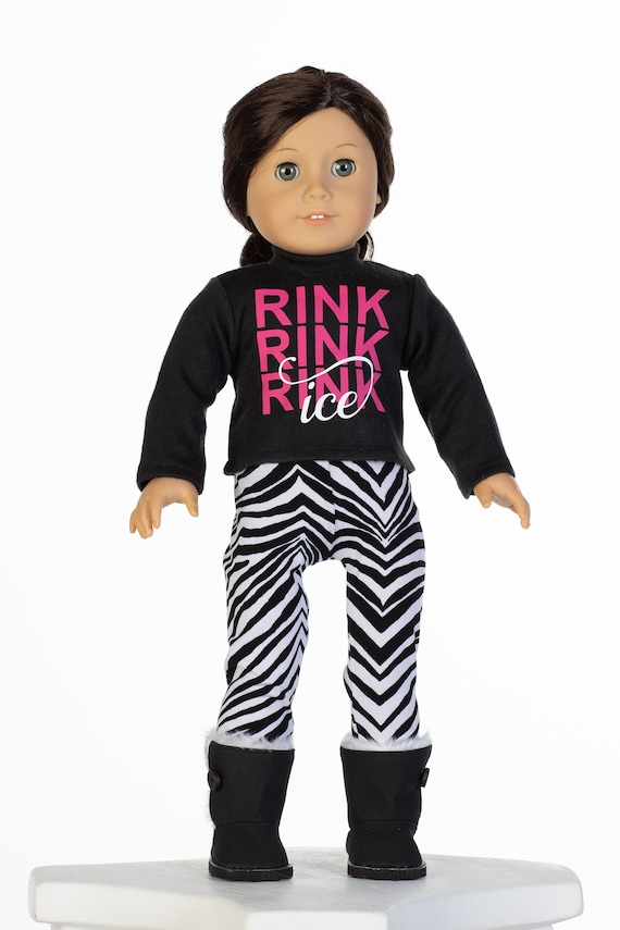 681929682af0 Doll Ice Skating Outfit Graphic Tee and Pants fits