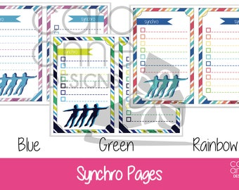 ADD ON - Synchro Skating Pages Figure Skating Practice Binder - Half Size Binder, Ice Skater Practice Book, Coach Planning, Skater Gift