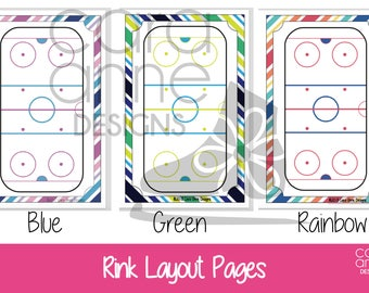 ADD ON - Extra Ice Rink Pages Figure Skating Practice Binder - Half Size Binder, Ice Skater Practice Book, Coach Planning, Skater Gift