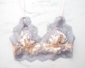 Ophelia Lace Appliqué Silk Bralette