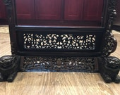 19th c. Antique chinese table screen stand for plaque
