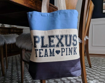 Tri-Color Gusseted Heavyweight Tote Bag Plexus