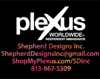 "17""x11"" FREE COLOR UPGRADE - Plexus Worldwide Small Window Personalized Watercolor Decal Up To 11"" Tall (Glossy) 202763412015AO"