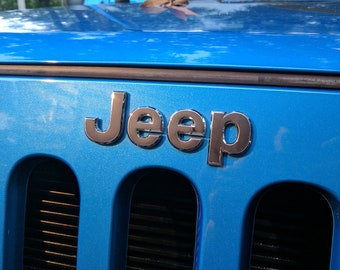 Jeep Wrangler Grill Emblem Overlay Sticker Decal