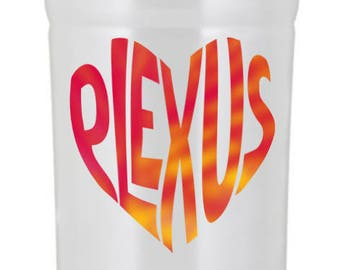 Plexus Lilly Print Inspired Pink Slim Heart Decal - 74361AO