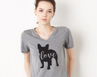 Puppy Love Women's Triblend V-Neck Tee