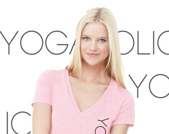 Yogaholic Women's SMALL Yoga V-neck