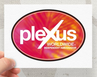 Plexus New Slim Worldwide 1 Watercolor Palms Oval Decal - 74361AO