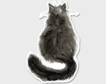 Black Cat Bumper Sticker Decal