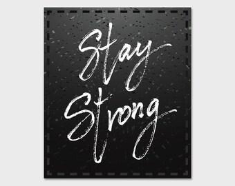 "Stay Strong - Women, Feminist Bumper Sticker Decal 5"""