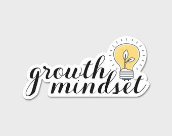 Growth Mindset Bumper Sticker Decal | Teacher | Teacher Decal | Teacher Appreciation | Growth Mindset | Laptop Sticker