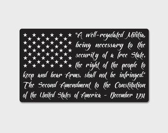 2nd Amendment Flag Decal | Second Amendment | 2A | Don't Tread On Me | Gadsden Flag | American Flag | Gun Flag | Carry | Freedom | Liberty