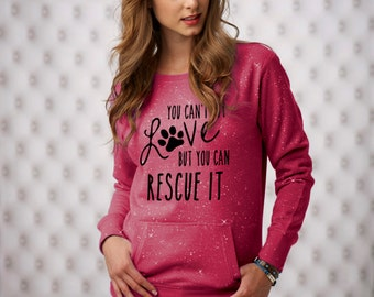 Large Wildberry You Can't Buy Love Sparkle Women's Glitter Crewneck Sweatshirt