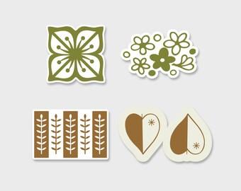 Pyrex Fridgie Prints Sticker Decal 2  | Gift for Her | Rare Pyrex | Friendship | Laptop Sticker | Laptop Decal | Pyrex Prints | Pyrex