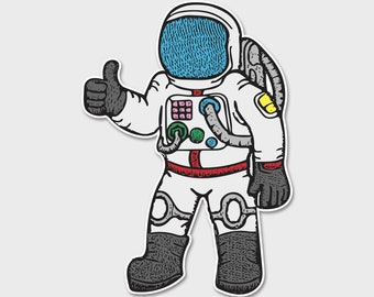 Astronaut Thumbs Up Bumper Decal | Laptop Sticker | Laptop Decal | Area 51 | ET | Extraterrestrials |  Space Sticker | Space Decal