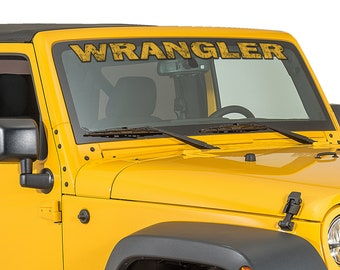 "Jeep Wrangler Custom Windshield Banner Sticker Decal 48"" #2"