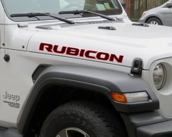Rubicon JL JLU 2018 Style Custom Two Color Hood Text Jeep Wrangler Sahara | Unlimited | Rubicon