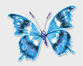 Butterfly 1 Bumper Sticker Decal 5"
