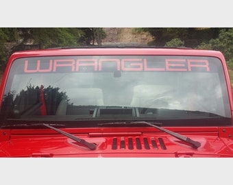 "Jeep Wrangler Custom Windshield Banner Sticker Decal 48"" Sahara 