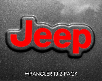Set of 2 - Jeep Wrangler TJ Sticker Decal Sahara | Unlimited | Rubicon 1997 2006