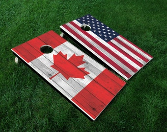 Cornhole Board Decal Wraps | Country | USA | Canada | Tailgate Games | Corn Hole Decals | Cornhole Skins | Cornhole Sticker