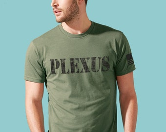 Plexus Mens Crewneck - Military Green - Plexus Army 2027633302015AO | Gift for Him | Plexus Top | Plexus Tee | Plexus Shirt