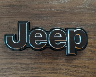 Set of 2 - Jeep Cherokee 2014 2019 Sticker Decal Emblem Overlay | Jeep Decal | Latitude | Overland | Trailhawk | Limited | Elite