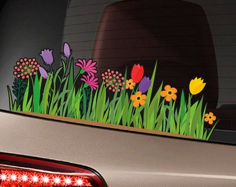 "Field of Wildflowers 15"" Bumper Sticker Decal 