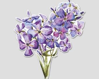 Flower Bouquet 2 Iris Watercolor Bumper Sticker Decal | Purple Flowers | Flower Sticker | Spring | Laptop Decal | Laptop Sticker |  Blue