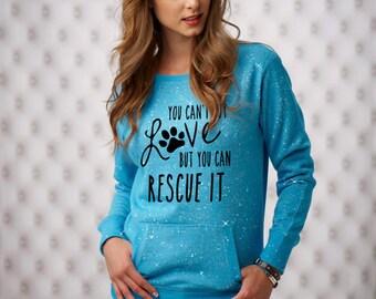 XL Maui Blue You Can't Buy Love Sparkle Women's Glitter Crewneck Sweatshirt
