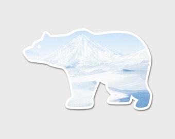 Save The Polar Bear Watercolor Bumper Sticker Decal |Laptop Sticker | Laptop Decal | Explore Sticker | Environmental Sticker