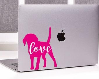 Puppy Love Decal All Breeds Available Labrador Retriever Sticker Vinyl | Corgi | Lab | Laptop Sticker | Laptop Decal | Bulldog