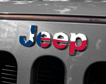 State - Jeep Wrangler JK JKU Grill Emblem Overlay Sticker Decal Sahara | Unlimited | Rubicon