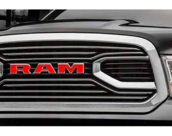 2015-2017 RAM 1500 Grille Emblem Decal Overlay | Big Horn | Laramie | Longhorn | Rebel | Tradesman