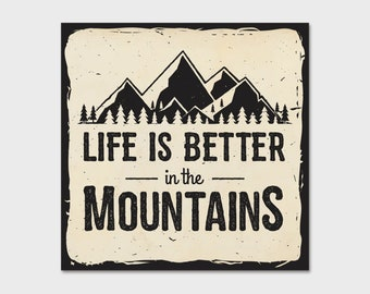 Life Is Better In The Mountains Bumper Sticker Decal 4"