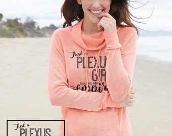 Creamsicle - Plexus Girl Empire Knit Funnelneck Pullover - 74365AO | Lady Boss | Boss Lady | Direct Marketing | Gift for Her | Sweatshirt