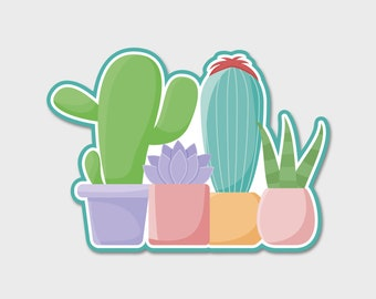 Cactus Succulent Decal | Desert Sticker | Laptop Decal | Laptop Sticker | Cactus Decal | Cactus Sticker | Vinyl Decal | Tumbler Decal