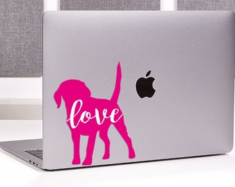 Puppy Love Decal All Breeds Available Labrador Retriever Sticker Vinyl | Corgi | Lab | Laptop Sticker | Laptop Decal | Bulldog
