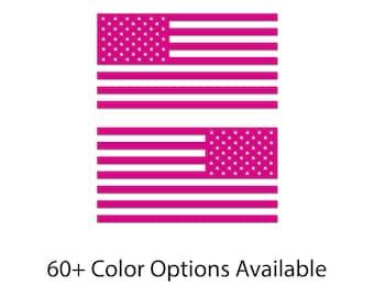 "6"" - Set of 2 - USA Flags Color Bumper Sticker Decal  | Jeep Decal | JK | JKU | Custom Jeep Decal | Sport Unlimited | Sahara  | Wrangler"