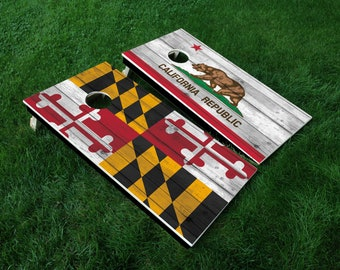Cornhole Board Decal Wraps | State Cornhold Board | USA | Canada | Tailgate Games | Corn Hole Decals | Cornhole Skins | Cornhole Sticker