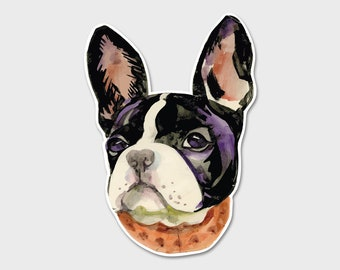 French Bulldog Watercolor Bumper Sticker Decal | Frenchie Sticker | Frenchie | Dog Love | Pet Sticker | Love your Dog | Gift for Her