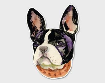 French Bulldog Watercolor Bumper Sticker Decal