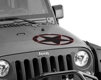 Hood Custom Two Color Jeep Wrangler Oscar Mike Freedom Edition Star Two Tone