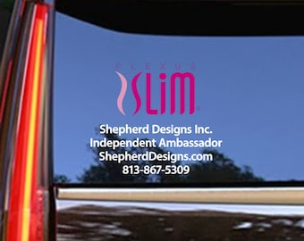 "17""x11"" FREE COLOR UPGRADE - Plexus Slim Small Window Personalized Full Color Decal Up To 11"" Tall (Glossy) 202763412015AO"