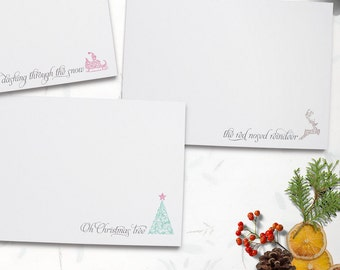 Printable Set of 3 Christmas Cards - Holiday Card - Do it yourself Printable Christmas Card - INSTANT DOWNLOAD -