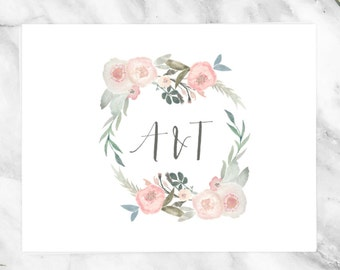 Wedding Monogram - Pre made Wedding Monogram Design - Customizable invitations - DIY Wedding Invitation Set