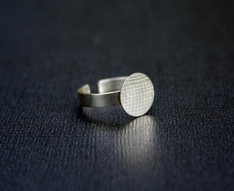 Venta de grandes anillos dos versiones materiales para cabuchons 12mm plateado